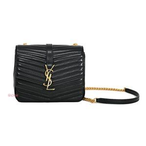 Saint Laurent Small Monogram Sulpice Leather Bag